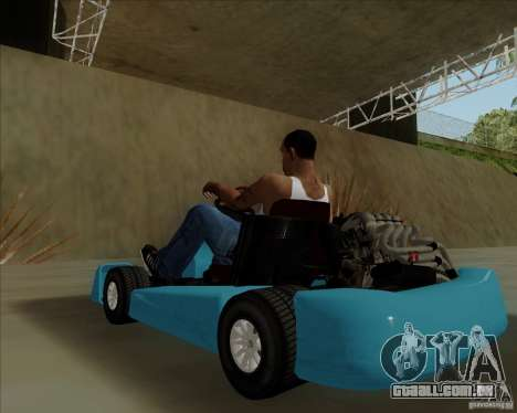Kart para GTA San Andreas vista traseira