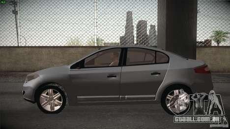 Renault Fluence para GTA San Andreas vista traseira