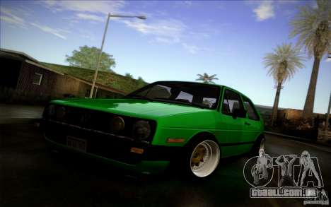 VW Golf MK2 Stanced para GTA San Andreas vista interior