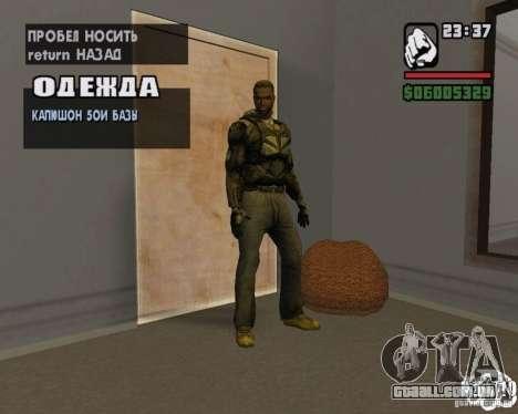 Roupas de um stalker para GTA San Andreas terceira tela