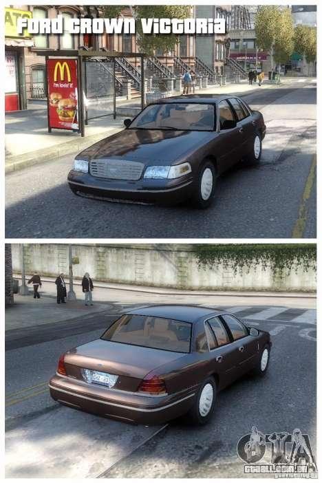 Ford Crown Victoria para GTA 4 esquerda vista