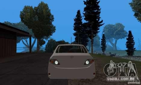 Toyota Corolla para GTA San Andreas vista traseira