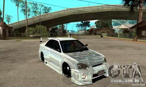 Subaru Impreza Tunned para GTA San Andreas vista traseira