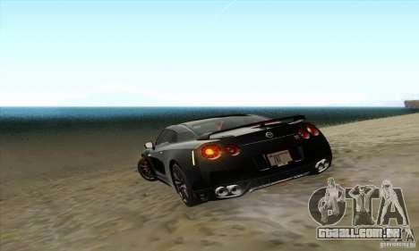 Nissan GT-R R-35 2012 para vista lateral GTA San Andreas