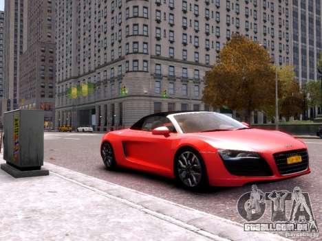 Audi R8 Spyder 5.2 FSI quattro V4 EPM para GTA 4 traseira esquerda vista