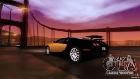 Bugatti Veyron 16.4 para GTA San Andreas interior
