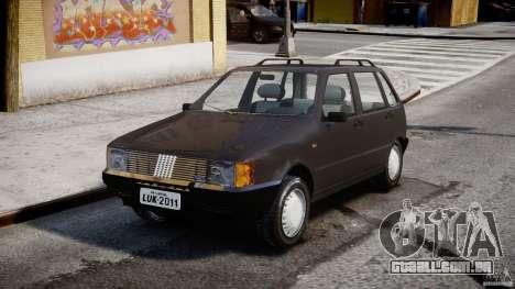 Fiat Uno 70SX 1989-1993 para GTA 4 vista de volta