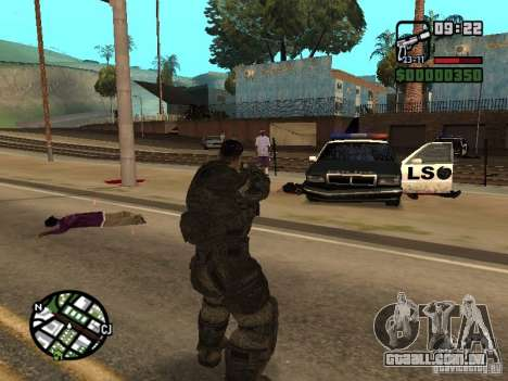 Dominic Santiago de Gears of War 2 para GTA San Andreas terceira tela