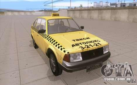 AZLK Moskvich 2141 táxi v2 para GTA San Andreas vista traseira