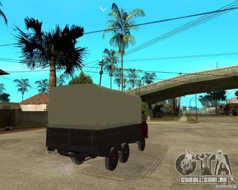 UAZ-452 carga 6 x 6 para GTA San Andreas traseira esquerda vista