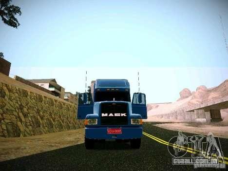 Mack ch 613 para GTA San Andreas vista direita