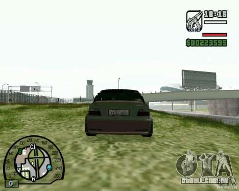BMW E36 Wide Body Drift para GTA San Andreas traseira esquerda vista