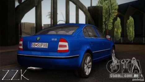 Skoda Superb 2006 para GTA San Andreas vista traseira