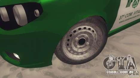 Fiat Siena Carabineros De Chile para GTA San Andreas vista traseira