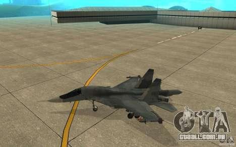 O Su-34 para GTA San Andreas traseira esquerda vista