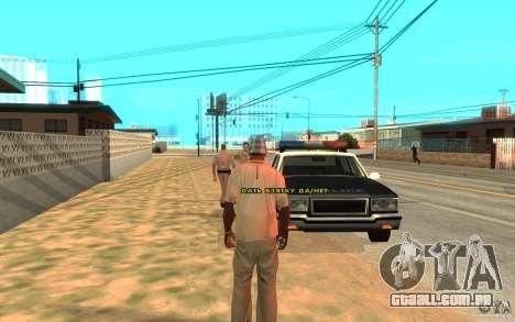 O suborno para GTA San Andreas por diante tela