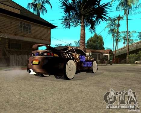 Mitsubishi Eclipse RZ 1998 para GTA San Andreas traseira esquerda vista