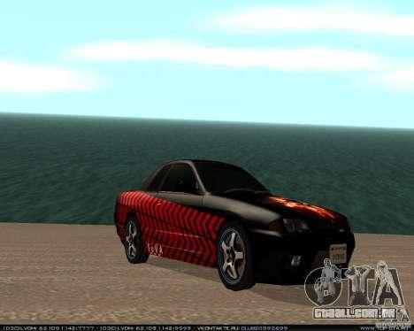 Nissan Skyline R32 GT-R + 3 vinil para GTA San Andreas traseira esquerda vista