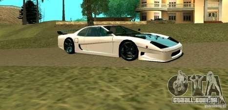 New Turismo para GTA San Andreas traseira esquerda vista