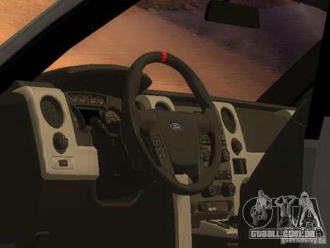 Ford F-150 Sargento Federal Edition para GTA San Andreas traseira esquerda vista