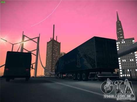 Trailer de Scania R620 Dubai Trans para GTA San Andreas vista interior