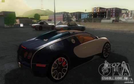 Bugatti Veyron 16.4 Grand Sport Sang Bleu para GTA San Andreas traseira esquerda vista