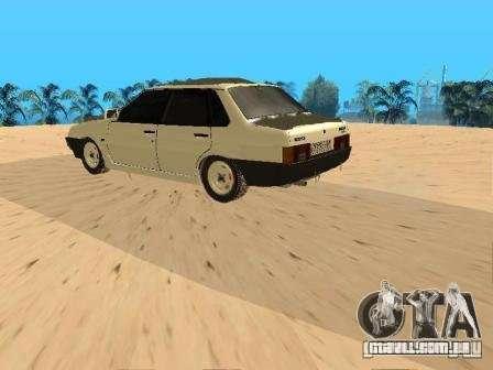 VAZ inverno 21099 para GTA San Andreas traseira esquerda vista