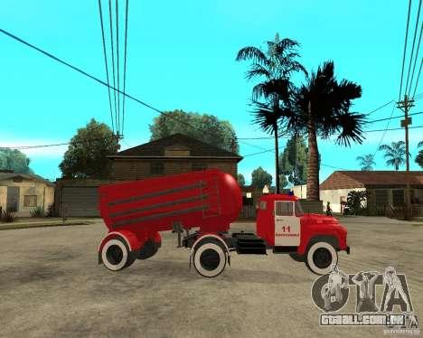 O caminhão de bombeiros AB-6 (130В1) para GTA San Andreas vista direita