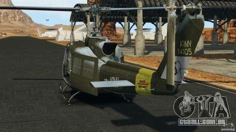 Bell UH-1 Iroquois para GTA 4 traseira esquerda vista
