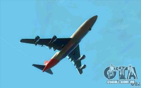 Boeing Qantas 747-400 para GTA San Andreas vista traseira