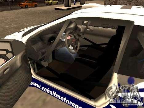 Peugeot 206 WRC de Richard Burns Rally para GTA San Andreas traseira esquerda vista