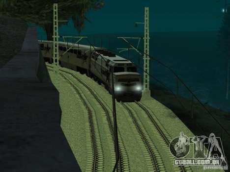Linha ferroviária de alta velocidade para GTA San Andreas por diante tela