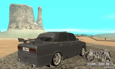 Caçador de noite 2105 VAZ para GTA San Andreas esquerda vista