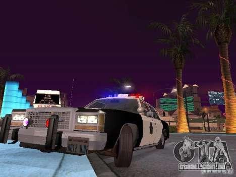 Ford LTD Crown Victoria Interceptor LAPD 1985 para GTA San Andreas vista interior