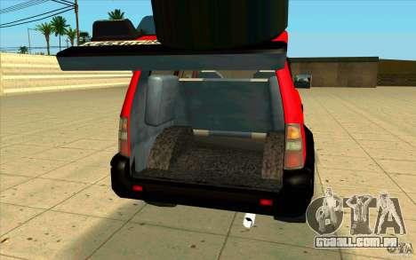 Toyota Land Cruiser Prado para GTA San Andreas vista interior
