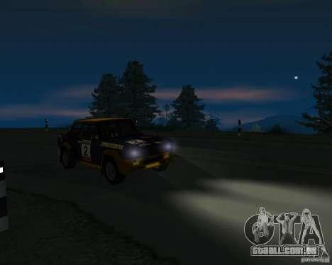 Fiat 131 Rally para GTA San Andreas vista traseira