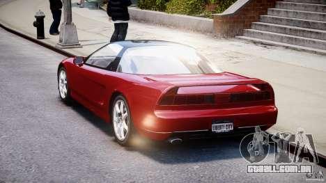 Acura NSX 1991 para GTA 4 vista interior
