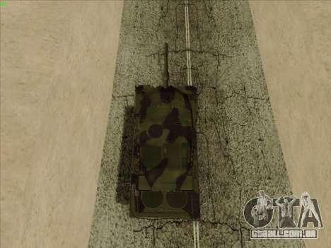 Leopard 2A6 para GTA San Andreas vista traseira