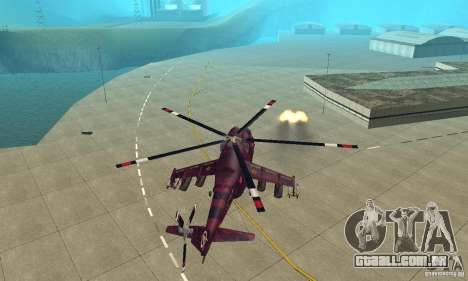Mi-24 para GTA San Andreas vista interior