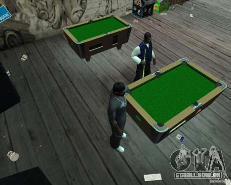 Nova mesa de bilhar para GTA San Andreas terceira tela