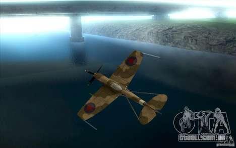 Spitfire para GTA San Andreas vista traseira