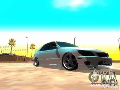 Toyota Altezza HKS para GTA San Andreas esquerda vista