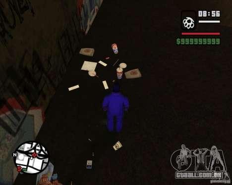 Vagabundos no beco para GTA San Andreas quinto tela