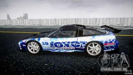 Nissan 240sx Toyo Kawabata para GTA 4 esquerda vista
