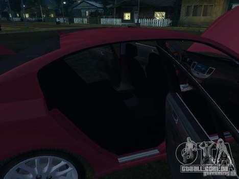 Hyundai Genesis para GTA San Andreas vista inferior