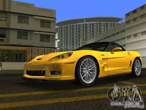 Chevrolet Corvette ZR1 para GTA Vice City vista direita