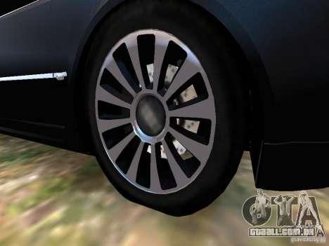 Audi A8L W12 para GTA 4 vista inferior