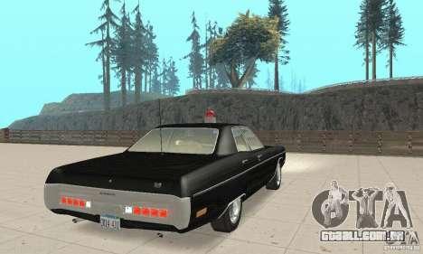 Plymouth Fury III Police para GTA San Andreas esquerda vista