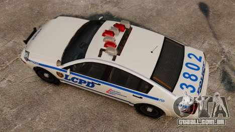 Polícia Pinnacle ESPA para GTA 4 vista direita