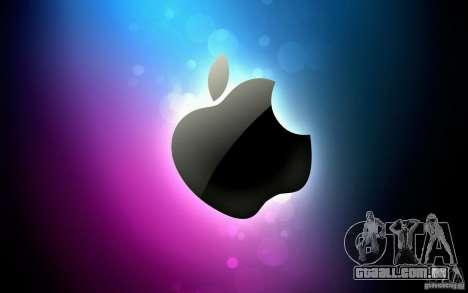 A tela de inicialização de Apple para GTA San Andreas terceira tela